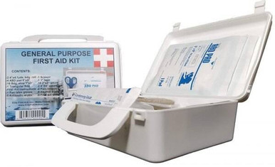 Elite First Aid, Inc. General Purpose First Aid Kit | White | Plastic |