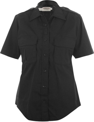 Elbeco ADU Ripstop Women's S/S Shirt | Navy Blue | Medium | Cotton/Polyester | LAPoliceGear.com