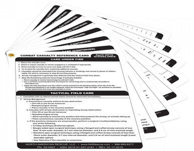 North American Rescue Combat Casualty Reference Card |