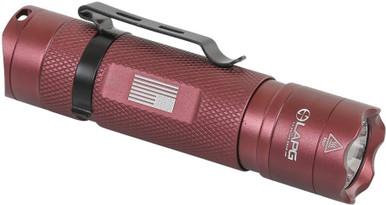 LA Police Gear Maroon Operator EDC 330 Lumen Flashlight