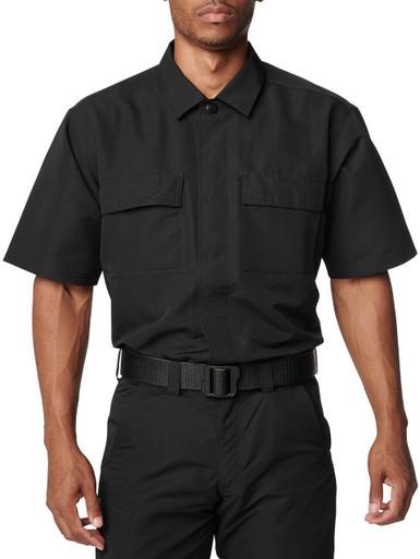 5.11 Tactical Men's Fast-Tac TDU Rapid Short Sleeve Shirt 71379   TDU Khaki   X-Large   Polyester   LAPoliceGear.com thumbnail