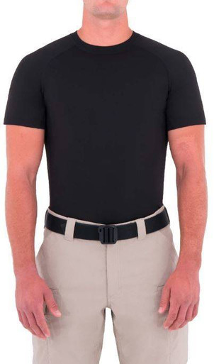 First Tactical Men's Performance Short Sleeve T-Shirt   Midnight Navy Blue   Medium   Polyester   LAPoliceGear.com