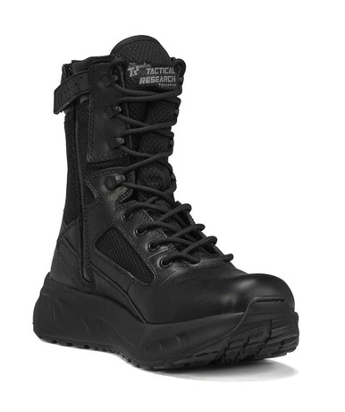 Tactical Research Men's Black FATT MAXX 8Z 8″ Maximalist Tactical Boot | 14-Wide | Nylon/Leather/Rubber | LAPoliceGear.com