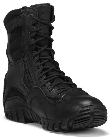 Tactical Research Men's Black Khyber Side Zip Waterproof Lightweight Tactical Boot | 8-Wide | Nylon/Leather | LAPoliceGear.com