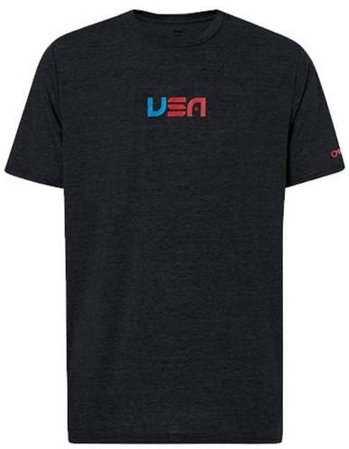Oakley USA T-Shirt | Blackout | Small | Cotton/Polyester | LAPoliceGear.com