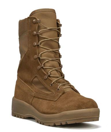 Belleville Women's Hot Weather Combat Boot – Coyote | 10-Wide | Nylon/Leather/Rubber | LAPoliceGear.com