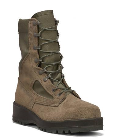 Belleville Women's Hot Weather Steel Toe Boot – Sage Green | 10-Wide | Nylon/Leather/Rubber | LAPoliceGear.com