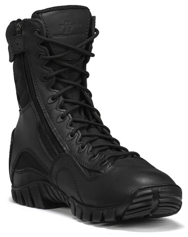 Tactical Research Men's Black Lightweight Hot Weather Khyber Side Zip Tactical Boot | 9-Wide | Nylon/Leather/Rubber | LAPoliceGear.com