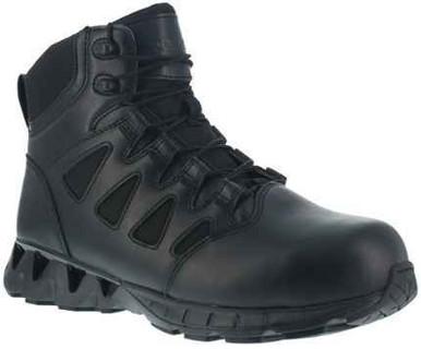 Reebok Women's ZigKick 6″ Side Zip Tactical Boot | Black | 7-Wide | Nylon/Leather/Rubber | LAPoliceGear.com