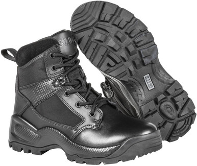 "5.11 Tactical Women's A.T.A.C. 2.0 6"" Side Zip Black Boot 12404 