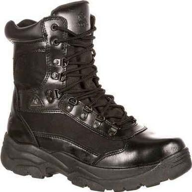 Rocky 8 Men's Fort Hood Boot (Waterproof) | Black | 15-Wide | Leather/Rubber | LAPoliceGear.com