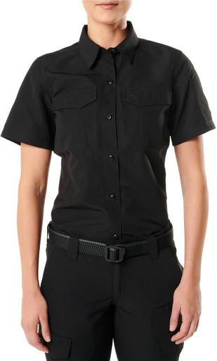 5.11 Tactical Women's Fast-Tac Short Sleeve Shirt 61314 | Khaki | Small | Polyester | LAPoliceGear.com