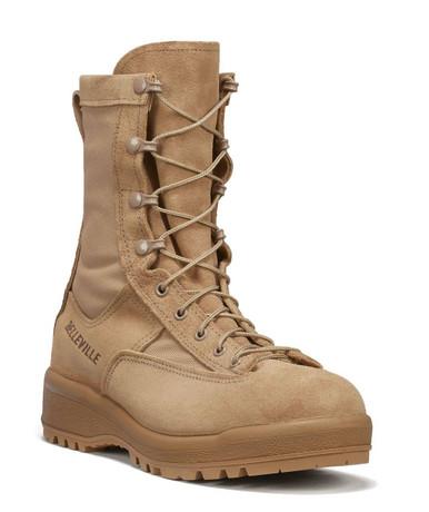 Belleville Women's Waterproof Flight & Combat Boot – Tan | 10-Wide | Nylon/Leather/Rubber | LAPoliceGear.com