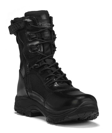 Tactical Research Men's Black Class-A 8″ Hot Weather High Shine Side-Zip Boot | 14-Wide | Nylon/Leather/Rubber | LAPoliceGear.com
