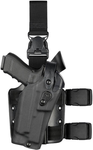 Safariland 6305RDS ALS/SLS Drop-Rig Tactical Holster with Quick Release Leg Strap | Red | Nylon | LAPoliceGear.com