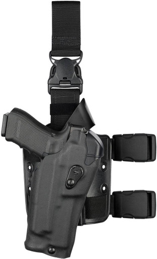 Safariland 6385RDS ALS OMV Tactical Drop-Leg Holster with Quick Release Leg Strap | Red | Nylon | LAPoliceGear.com thumbnail