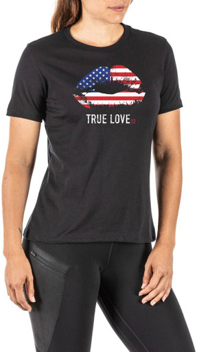 5.11 Tactical Women's True Love T-Shirt 31022OOW | Black | X-Large | Cotton/Polyester | LAPoliceGear.com