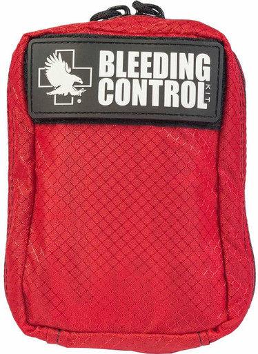 North American Rescue Public Access Individual Bleeding Control Kit | Red | Nylon |