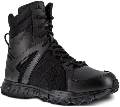 Reebok Men's Duty Trailgrip Tactical 8″ Insulated Waterproof Side Zip Boot RB3455 | Black | 15-Standard | Nylon/Leather/Rubber | LAPoliceGear.com