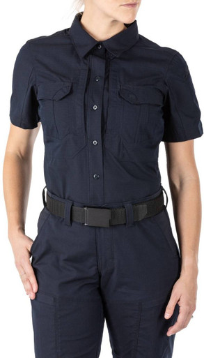 5.11 Tactical Women's Stryke Short Sleeve Shirt 61325 | TDU Green | Small | Cotton/Polyester | LAPoliceGear.com