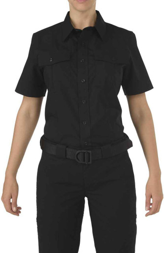 5.11 Tactical Women's Stryke PDU Class A Short Sleeve Shirt 61016 | Dark Navy Blue | X-Large | LAPoliceGear.com