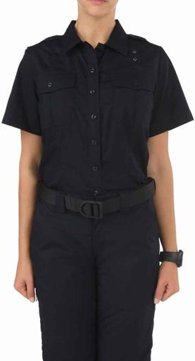 5.11 Tactical Women's Taclite PDU Class A Short Sleeve Shirt 61167 | Midnight Navy Blue | X-Large | LAPoliceGear.com