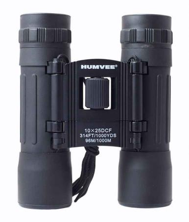 Humvee 10x25 Compact Binocular | Red | Rubber |