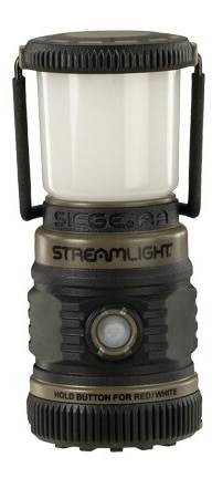 Streamlight The Siege AA Ultra-Compact Lantern   Red   Rubber/Polycarbonate  