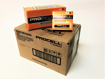 Duracell Procell AA Batteries - Case of 144