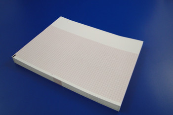 Chart Paper Thermal 216 X 280 mm Fan-Fold Red Grid