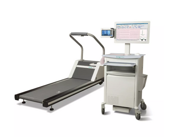 Hillrom Mid Level Q-Stress System with LCD Screen and Treadmill