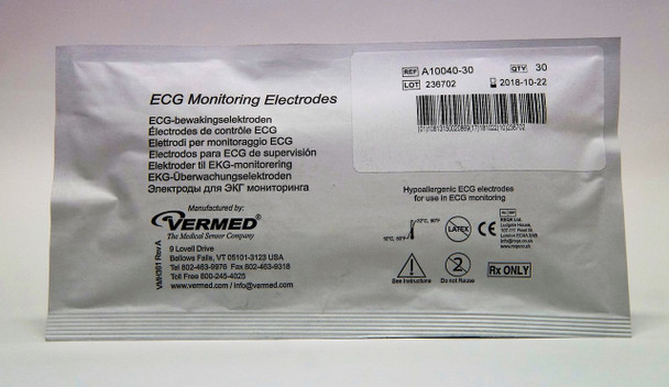 Vermed Pediatric Cloth Solid Gel Electrodes (30 pks)