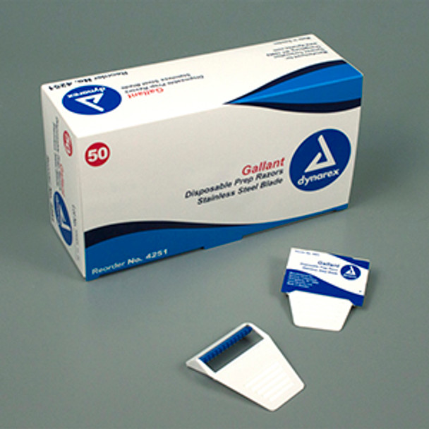 Gallant Disposable Prep Razors Stainless Steel Blade (Box)