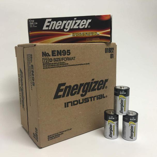 Energizer Industrial D Batteries - Case of 72