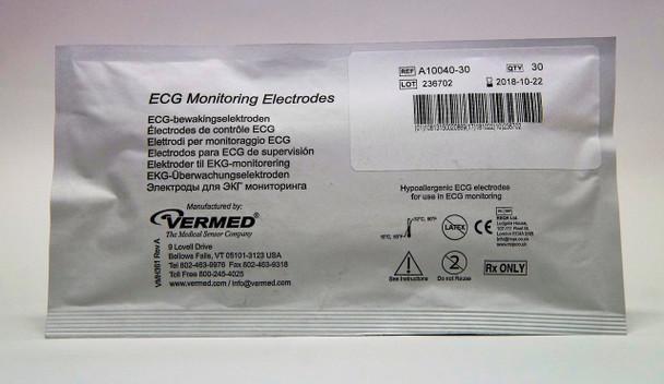 V-A10040-60 Vermed Pediatric Cloth Solid Gel Electrodes