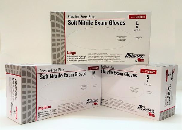 Pro Advantage Exam Glove Powder Free Blue Medium