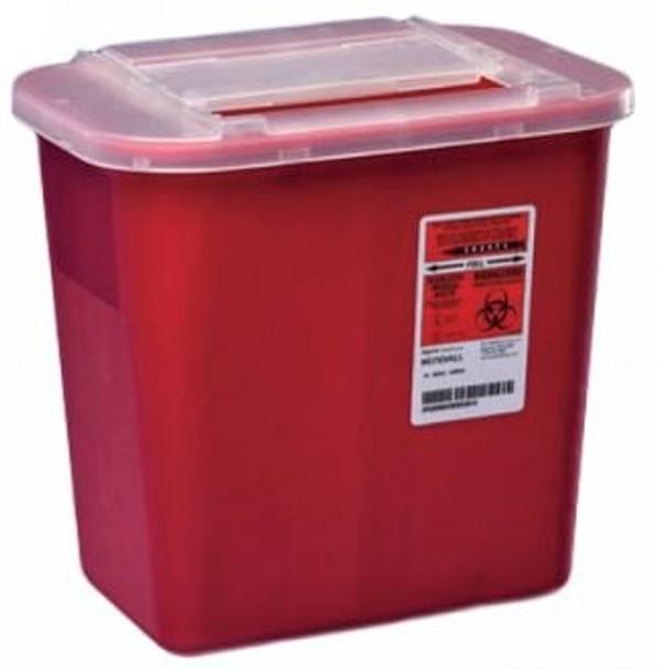 Sharps-A-Gator™ 2 Gallon Red Base Sliding Lid