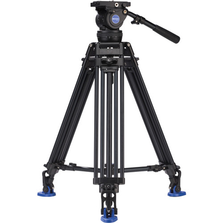 Benro A674TMM Dual Stage AL Video Tripod & BV10 Head - 100mm Bowl, 3 Leg Sections, Twist Lever-Lock Leg Release