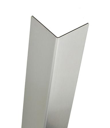 Stainless Steel Corner Guard, 48in x 3.5in, 16 ga, 90 Degree, Basic, Type 304, Satin 4 Brushed Finish