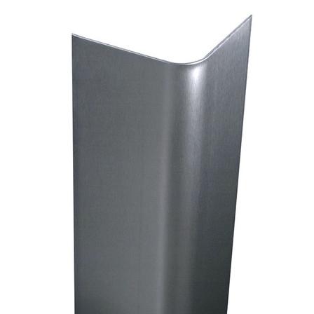 Stainless Steel Bullnose Corner Guard, 24in x 2in, 16 ga, 90 Degree, , ,