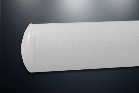 """5"""" x 144"""", Pawling WG-5-Series, Crescent Shaped Vinyl Wall Guard, with Aluminum Retainer"""
