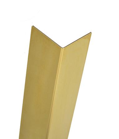 Brass Corner Guard, 96'' x 0.5'' x 0.5'', 040 ga, 90 Degree, Basic, Muntz, Mirror 8 Polished Finish