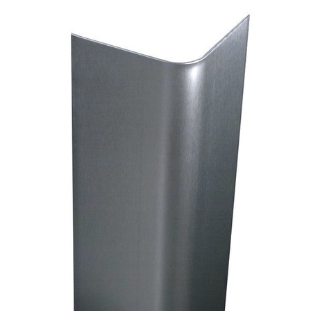 "94"" x 4.5"" x 4.5"" - 90 Deg Bullnose, 14ga, Type 304, Satin #4 (Brushed) Finish, Stainless Steel Corner Guard"