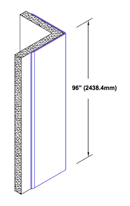Angle Stainless Steel Corner 1500 mm 1,0 mm strong 1.4301 Stairs Protection Diamond