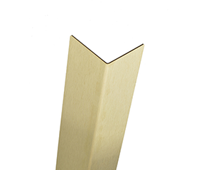 Muntz Brass corner guards with a Brushed #4 Finish