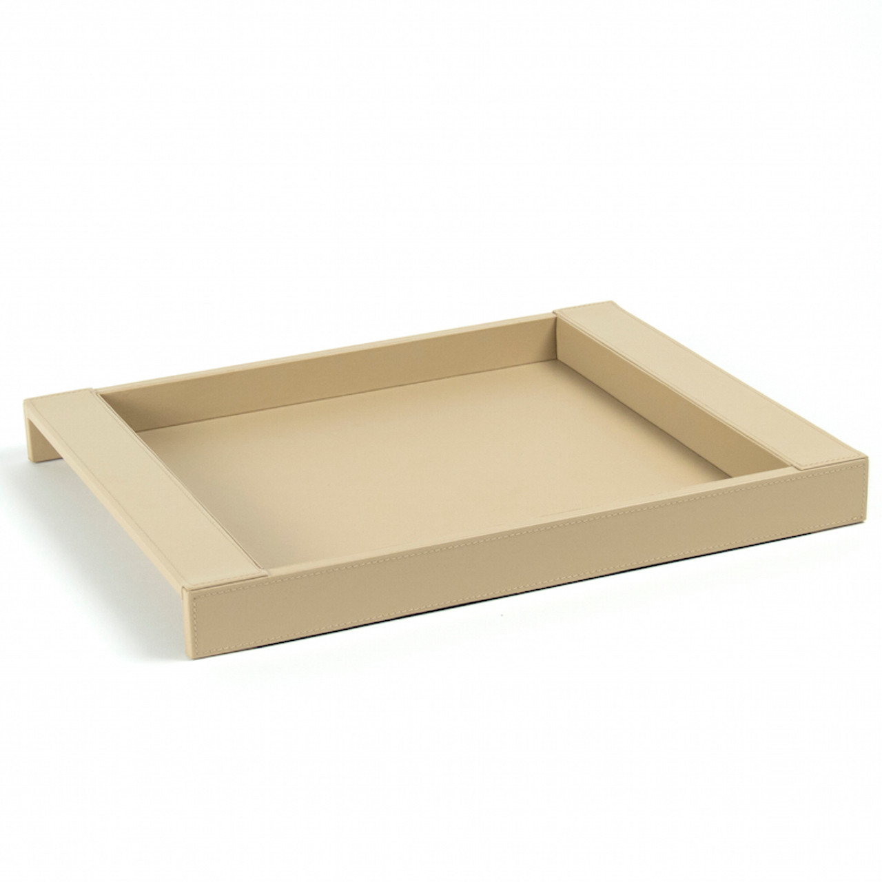 white leather serving tray Smooth Leather Tray White Coffee