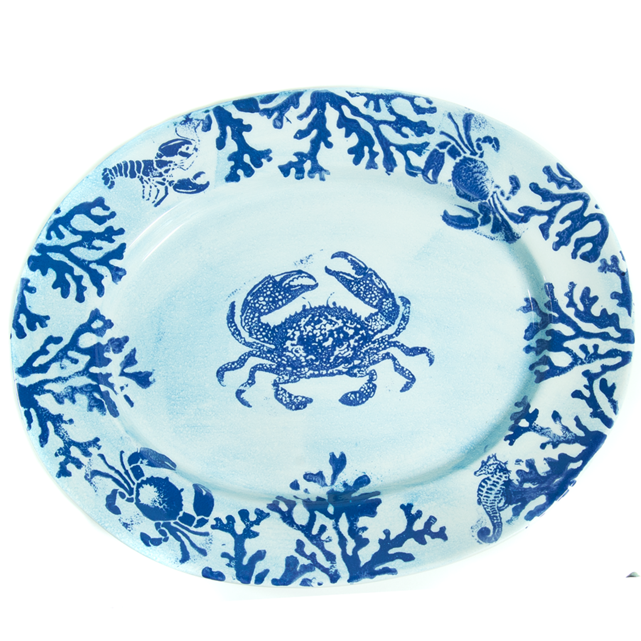 Crab Oval Platter 18 X 22 Between The Sheets