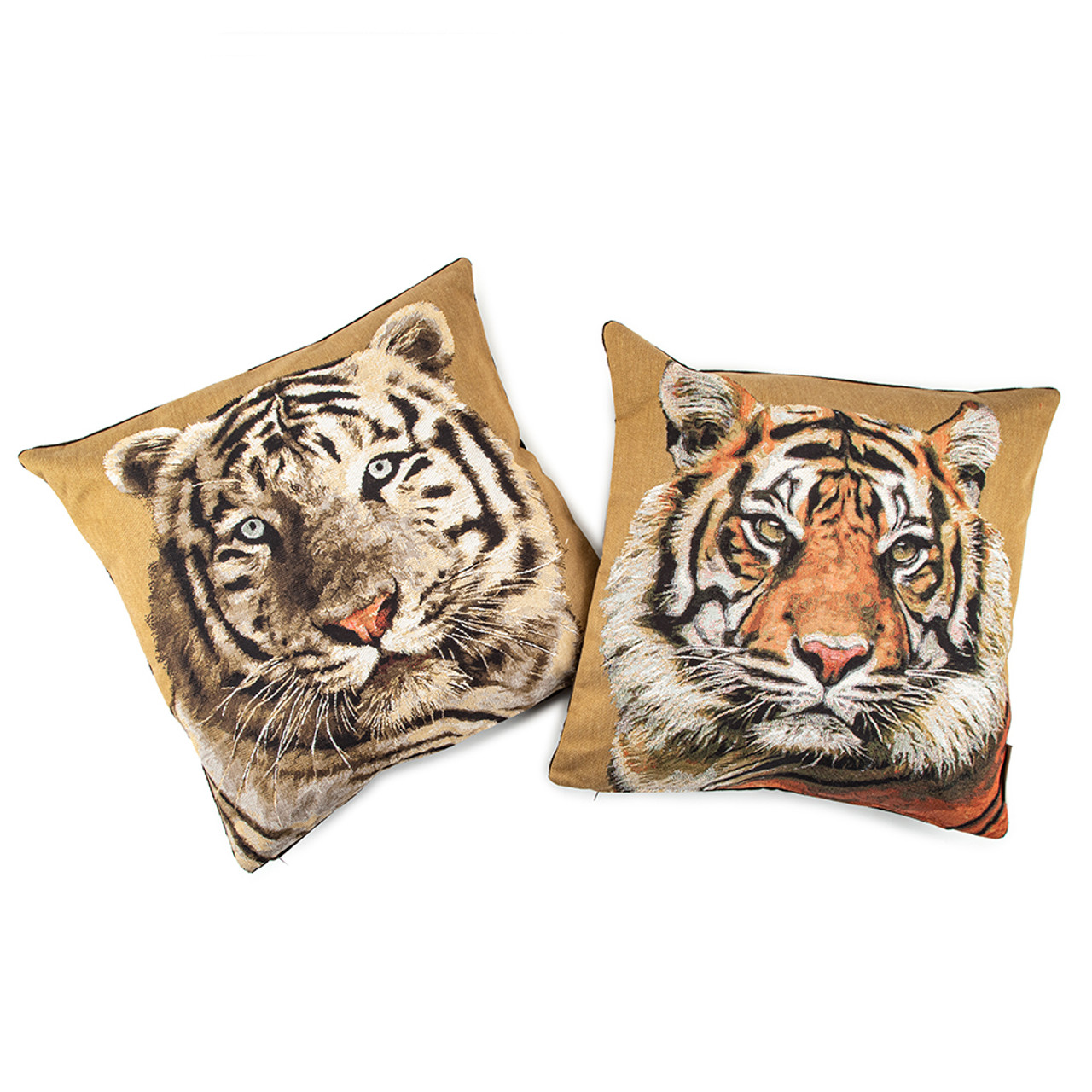Tiger Decorative Pillows Between The Sheets