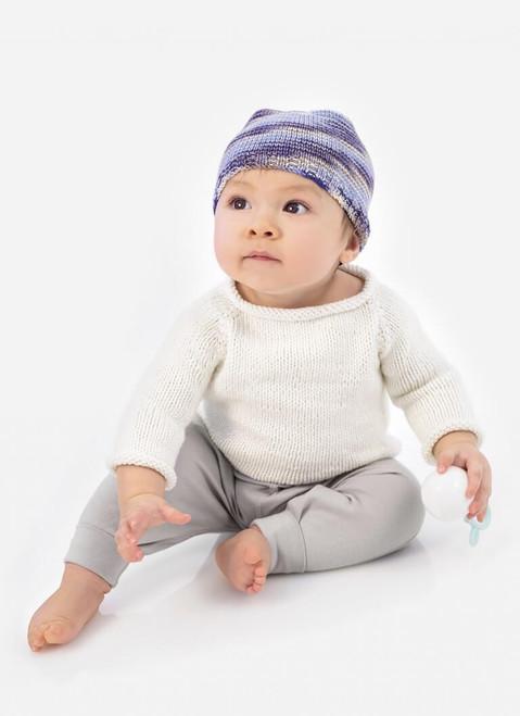 Blue Sky Fibers / Spud & Chloe Pattern 9536 Pint Size Pullover & Happy Hat