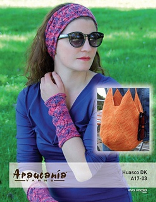 Araucania Pattern - Huasco DK Pattern A17-03 Headband, Mitt and Bag